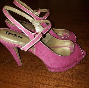Euc LimeLight fuschia heels size 9